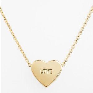"Kate Spade ""Dear Valentine"" Love heart pendent"